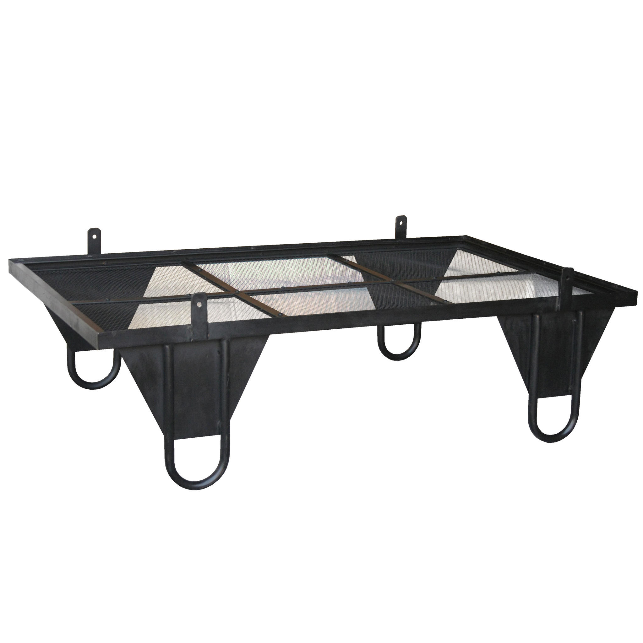 ceorl iron and glass low coffee table from wrightwood