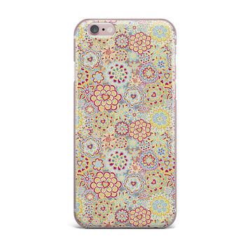 "Julia Grifol ""My Happy Flowers in Red"" iPhone Case"