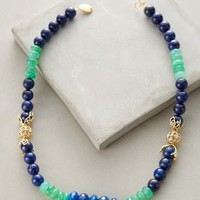 Stonestack Necklace by Indulgems Blue Motif One Size Necklaces