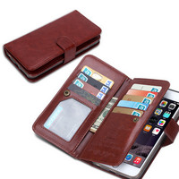 Magnetic Flip Practical PU Leather Wallet Case Cover for Phone 6s,iPhone 6s Plus,iPhone 6 Plus,iphone 5/5s,iPhone 6 Samsung