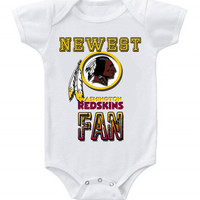 NEW Football Baby Bodysuits Creeper NFL Washington Redskins