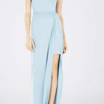 Mylie Front-Slit Long Dress - Blue