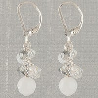 Crushed Ice Crystal Cluster Earrings