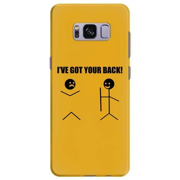 i've got your back t shirt tee funny novelty tee pun stick figure joke Samsung Galaxy S8 Plus