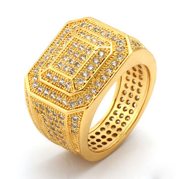 King Ice 14K Gold Championship Style Ring