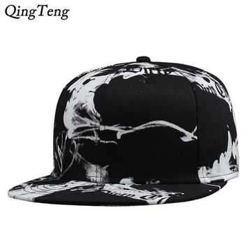 Trendy Winter Jacket 2018 Casual Hat Ink painting Snapback Cap For Men Women Adjustable Baseball Cap Hats Cotton Chinese Style Brand Hat AT_92_12