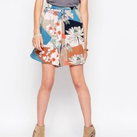 Vila Mixed Print Short