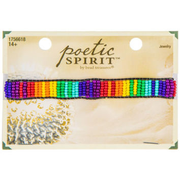 Adjustable Rainbow Seed Bead Bracelet | Hobby Lobby | 1756618