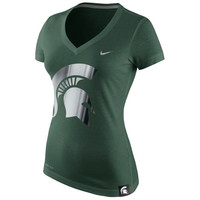 Michigan State Spartans Nike Women's Platinum Dri-Blend Peformance T-Shirt – Green
