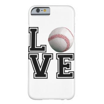Love Baseball College Style Barely There iPhone 6 Case