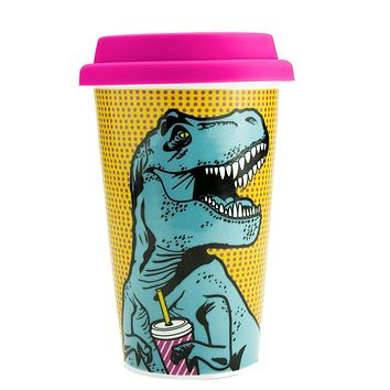 T-Rex Double Wall Mug in Multicolor