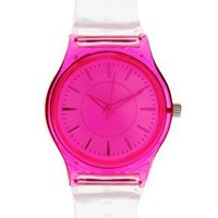 Pink | ASOS Neon Pink Plastic Watch at ASOS