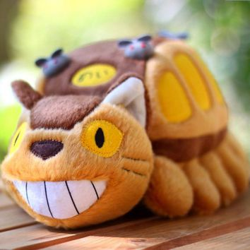 Japan Cartoon Animation Cute Totoro Cat Bus Stuff Plush Toy Doll Kids Birthday Gift 30cm Drop Shipping