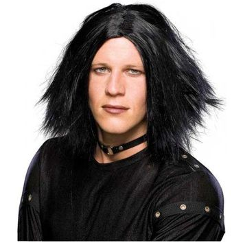Emo Dark Lord Costume Wig Adult Mens Goth Scene Vampire Cosplay Punk Halloween