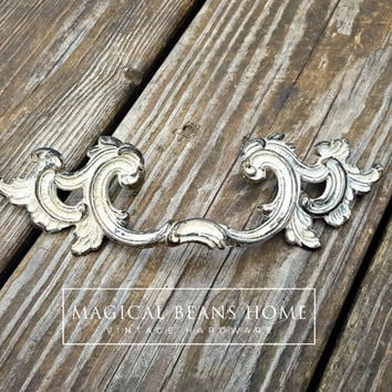 French Provincial Furniture Pull Shabby Chic Drawer Pulls Winged Dresser Pulls Keeler Brass Co Period Dresser Hardware Drawer Pull Handles