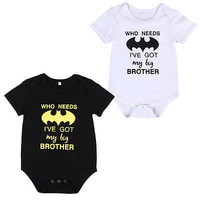 Toddler Baby Boy Girl Batman Romper Jumpsuit