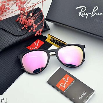 RayBan trend female round frame polarized color film UV protection sunglasses #1