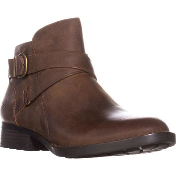 Born Chaval Flat Casual Ankle Boots, Brown, 8 US / 39 EU