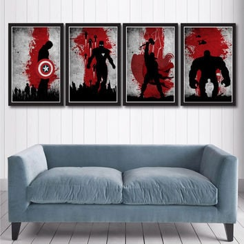 Vintage Avengers Movie Poster Set