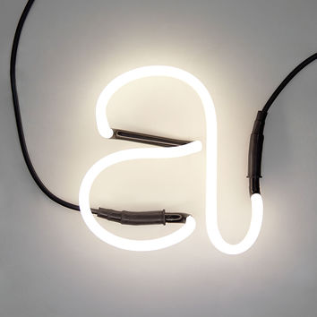"Neon Letter Lamp ""a"" And Accessories"