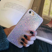 Luxury Bling Shining Snake Scales Laser Colorful Soft Case For iPhone 7 6 6S Plus Phone PU Leather Cover Back For iPhone 6 7 6S-04410