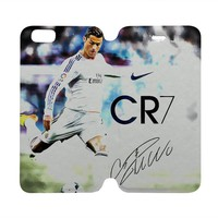 CRISTIANO RONALDO Real Madrid Wallet Case for iPhone 4/4S 5/5S/SE 5C 6/6S Plus Samsung Galaxy S4 S5 S6 Edge Note 3 4 5