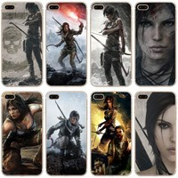 Tomb Raider Transparent Hard Thin Case Cover For Apple iPhone 4 4S 5 5S SE 5C 6 6S 7 8 X Plus