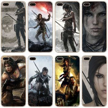 G350 Tomb Raider Transparent Hard Thin Case Cover For Apple iPhone XR XS Max 4 4S 5 5S SE 5C 6 6S 7 8 X Plus