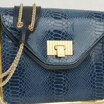 Chloe Blue Python Sally Shoulder Bag