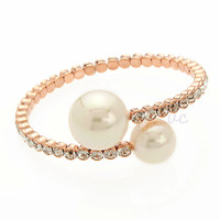COCO Pearl Bangle With Crystals