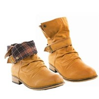 Amazon.com: Casual Boots with Fold Over Cuff: Shoes