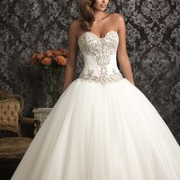Allure Bridals 9017 Corset Ball Gown Wedding Dress