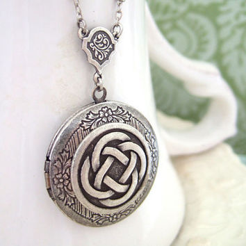 THE ETERNAL KNOT celtic knot locket necklace in by plasticouture