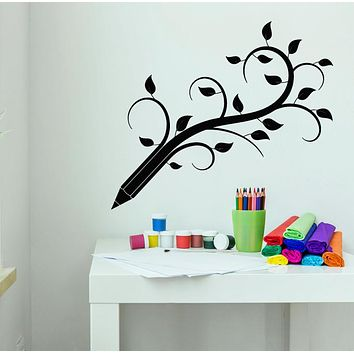 Vinyl Wall Decal Pencil Tree Branch Children's Playroom Decoration Stickers (3217ig)