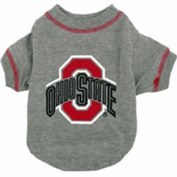 PEAP7N7 Ohio State Dog Tee Shirt