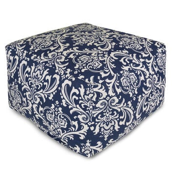 Navy Blue French Quarter Large Ottoman