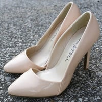 A Woman Should Be Classy And Fabulous Nude Patent Leather Heels