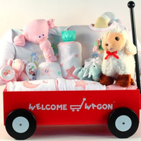 Baby Shower Wagon Gift Set - Girl