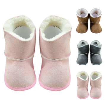 Baby Winter Snow Boots Soft Round Toe Fleece Warm Boots Girl Newborn Toddler Baby Kid Prewalker Cozy Crib Shoes Suitable 0-18M