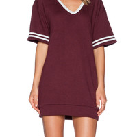 Dark Red Sporty T-Shirt