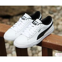 Sale BTS X Puma Court Star White Black Shoes Casual Shoes 366202-01