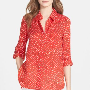 5c1b06707a486a Women s Diane von Furstenberg  Lorelei Two  Print Cotton   Silk Blouse