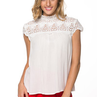Classic Lacy Top in Ivory