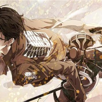 Cool Attack on Titan Custom Eren Jaeger Mural  Poster  Figure Wallpaper Kids Anime Wall Stickers Home Decoration #145# AT_90_11