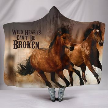 Horse Hooded Blanket - Wild Hearts Can't Be Broken