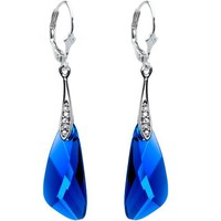 Body Candy Handcrafted Silver Plated Blue Inspire Dangle Earrings Created with Swarovski Crystals