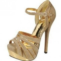 GOLD PIPED PUMP-Heels-prom heels,high heels shoes,leopard heels,hot pink heels,cheap heels,party shoes heels,sexy heels,Platform Heels,high heel pumps,Wedge Heels,Flat Heels