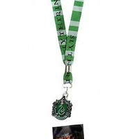 Harry Potter Slytherin Crest Logo Lanyard Neck Strap Necklace ID Holder Keychain