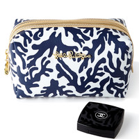 Navy Trunk Show Large Cosmetic Case - Lilly Pulitzer