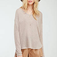 Marled Drop-Sleeve Sweater